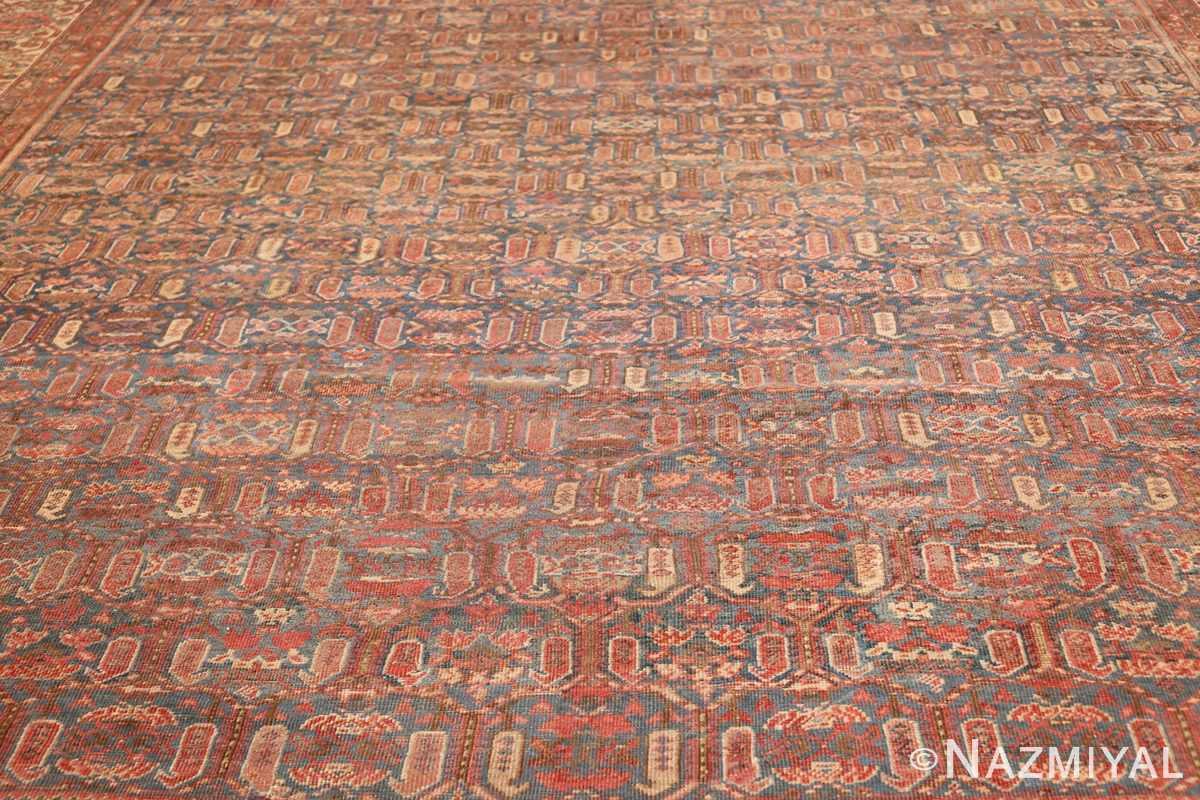 square antique bakshaish persian rug 49656 field Nazmiyal