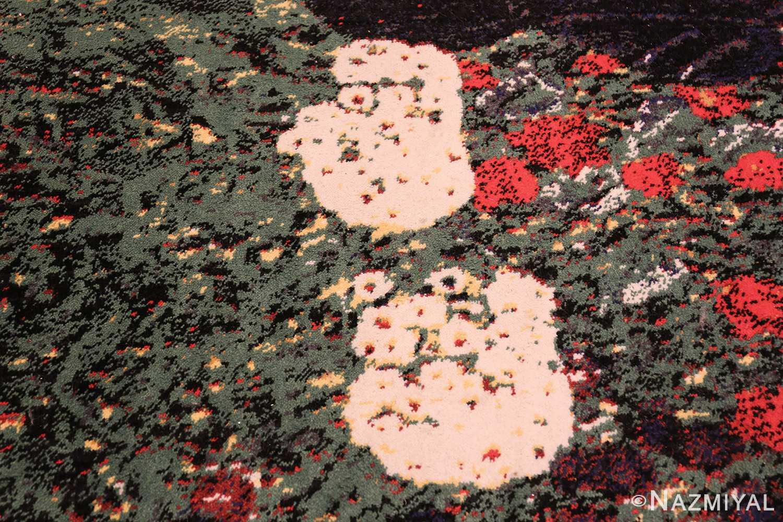 vintage flower garden design scandinavian rug by gustav klimt 49661 bird Nazmiyal