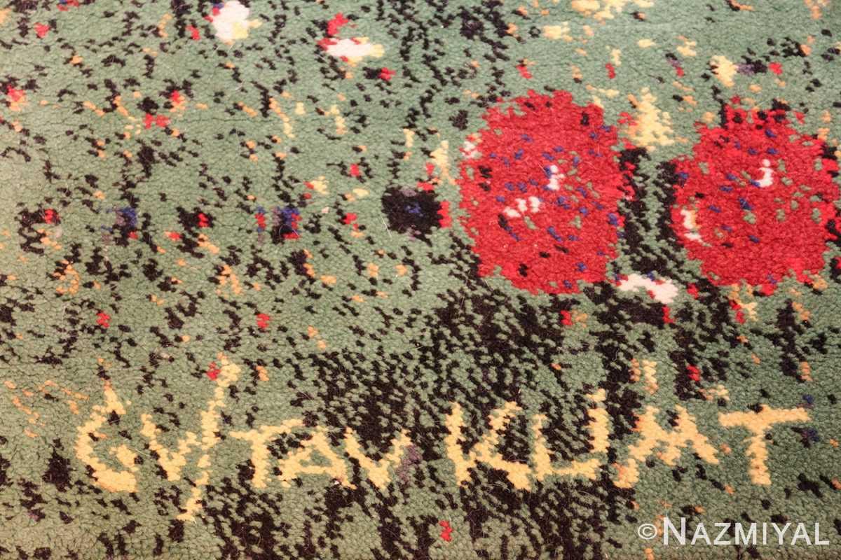 vintage flower garden design scandinavian rug by gustav klimt 49661 gustav Nazmiyal