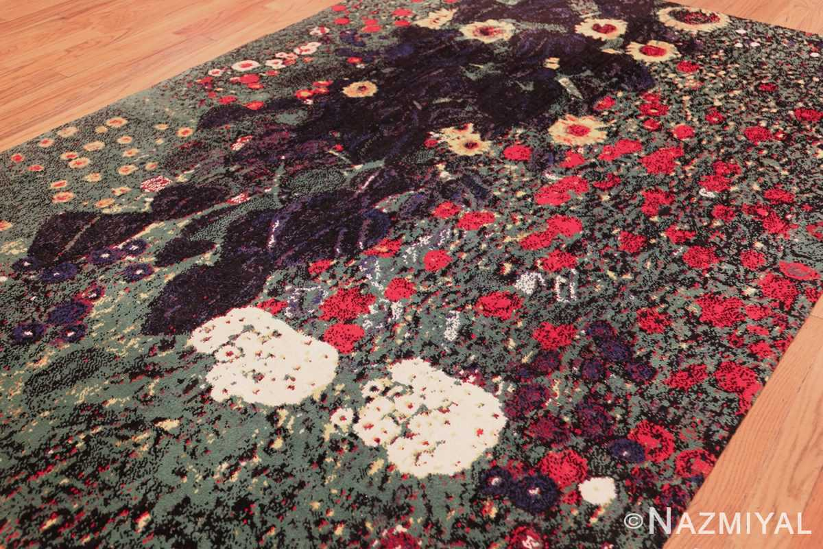 vintage flower garden design scandinavian rug by gustav klimt 49661 side Nazmiyal