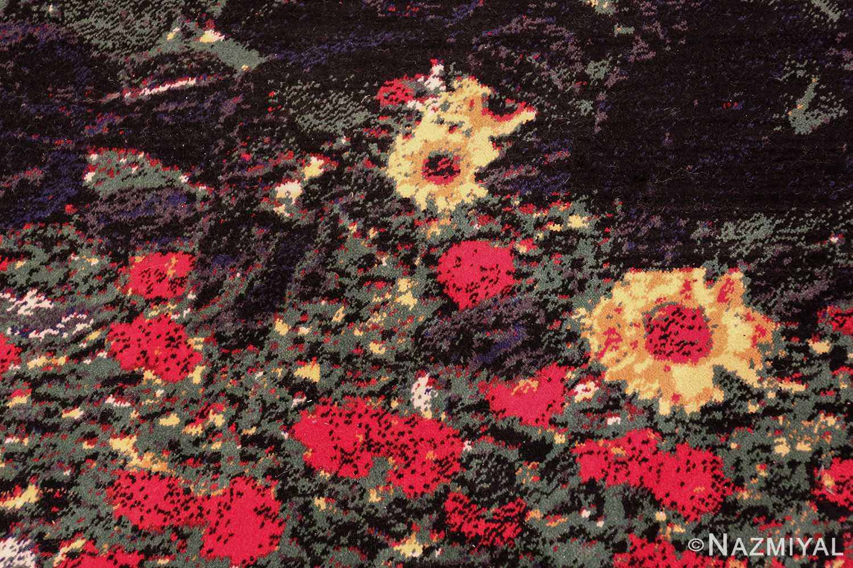 vintage flower garden design scandinavian rug by gustav klimt 49661 stone Nazmiyal