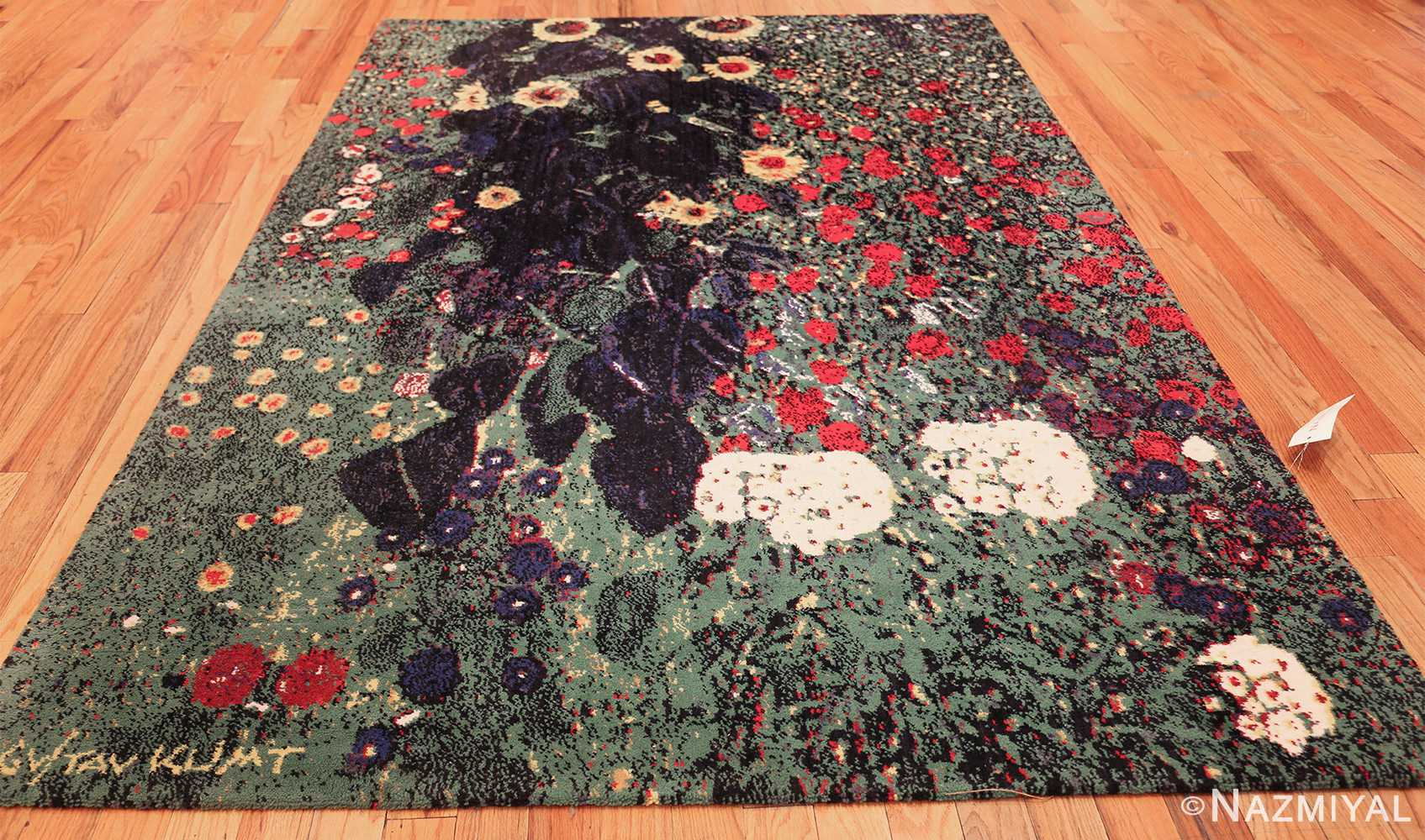 vintage flower garden design scandinavian rug by gustav klimt 49661 whole Nazmiyal