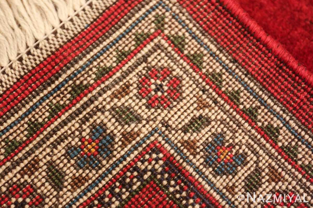 vintage lion designed tabriz persian rug 49625 knots Nazmiyal