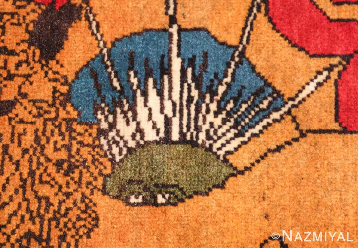 vintage lion designed tabriz persian rug 49625 sun Nazmiyal