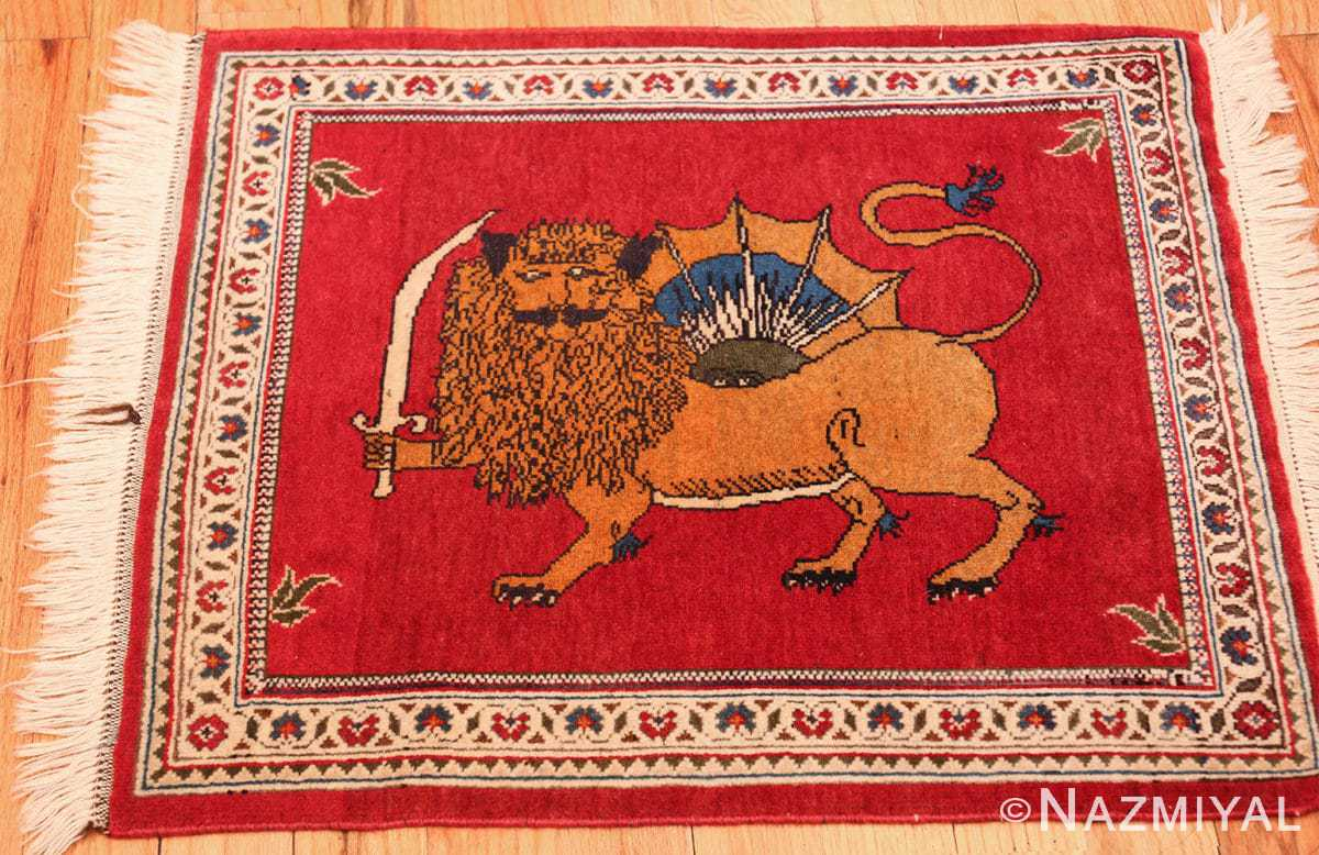 vintage lion designed tabriz persian rug 49625 whole Nazmiyal