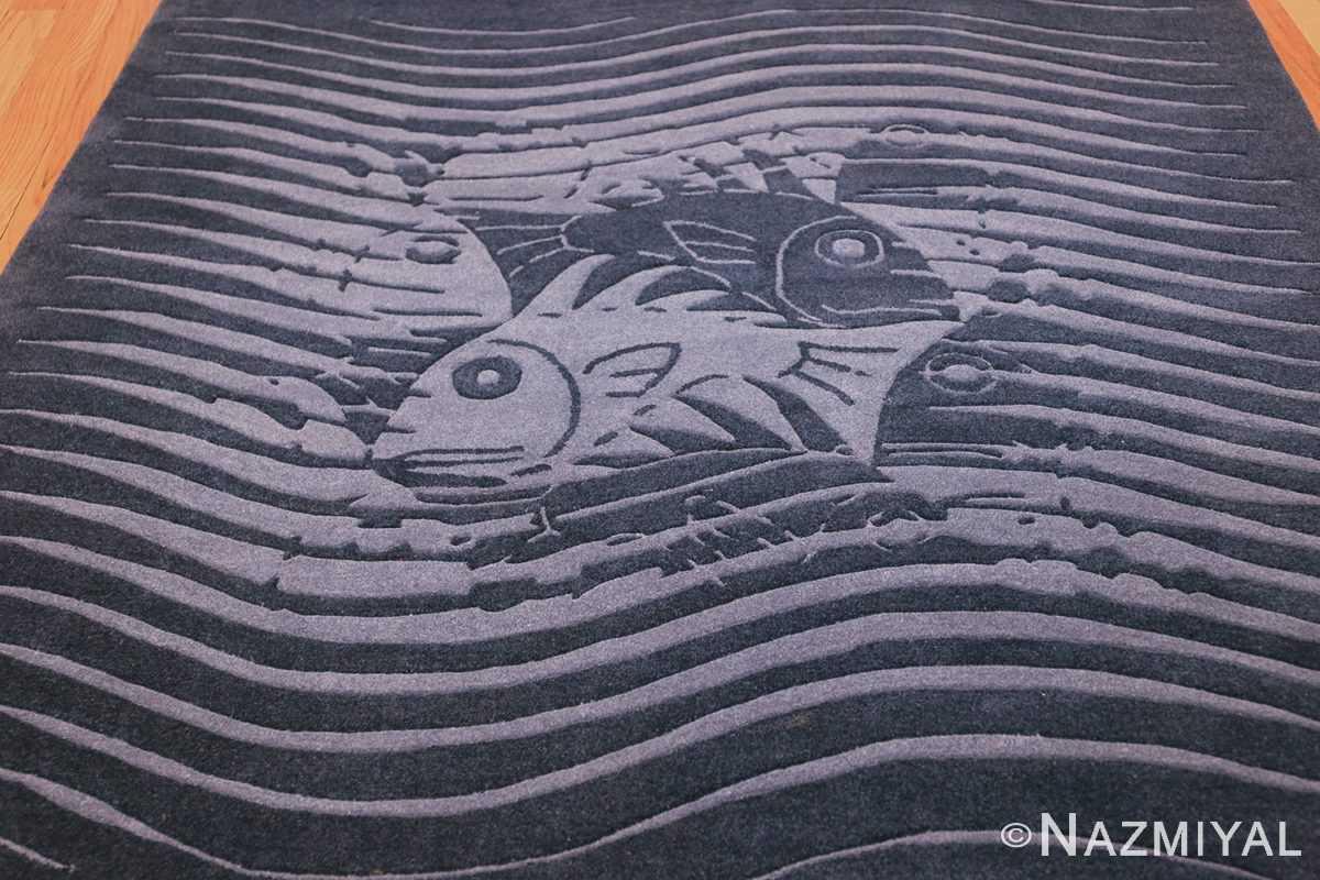 vintage maurtis eschter designed scandinavian fish rug 49663 field Nazmiyal
