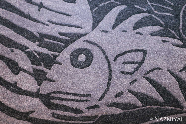 vintage maurtis eschter designed scandinavian fish rug 49663 right Nazmiyal