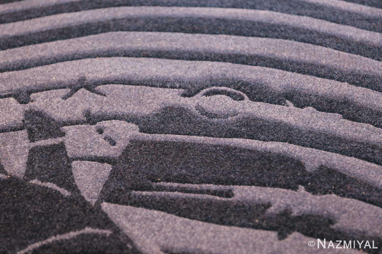 vintage maurtis eschter designed scandinavian fish rug 49663 waves Nazmiyal