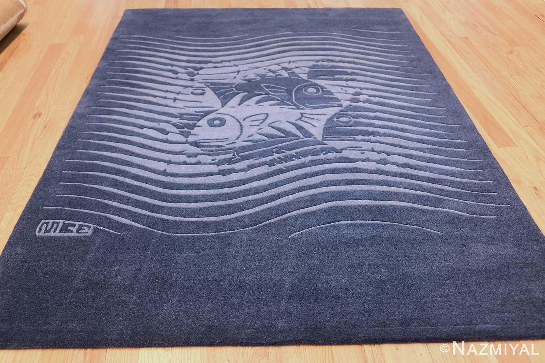 vintage maurtis eschter designed scandinavian fish rug 49663 whole Nazmiyal