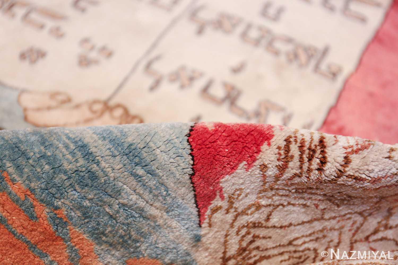 vintage silk biblical kashan persian rug 49606 pile Nazmiyal