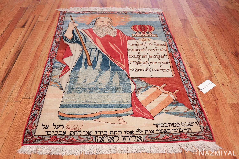 vintage silk biblical kashan persian rug 49606 whole Nazmiyal