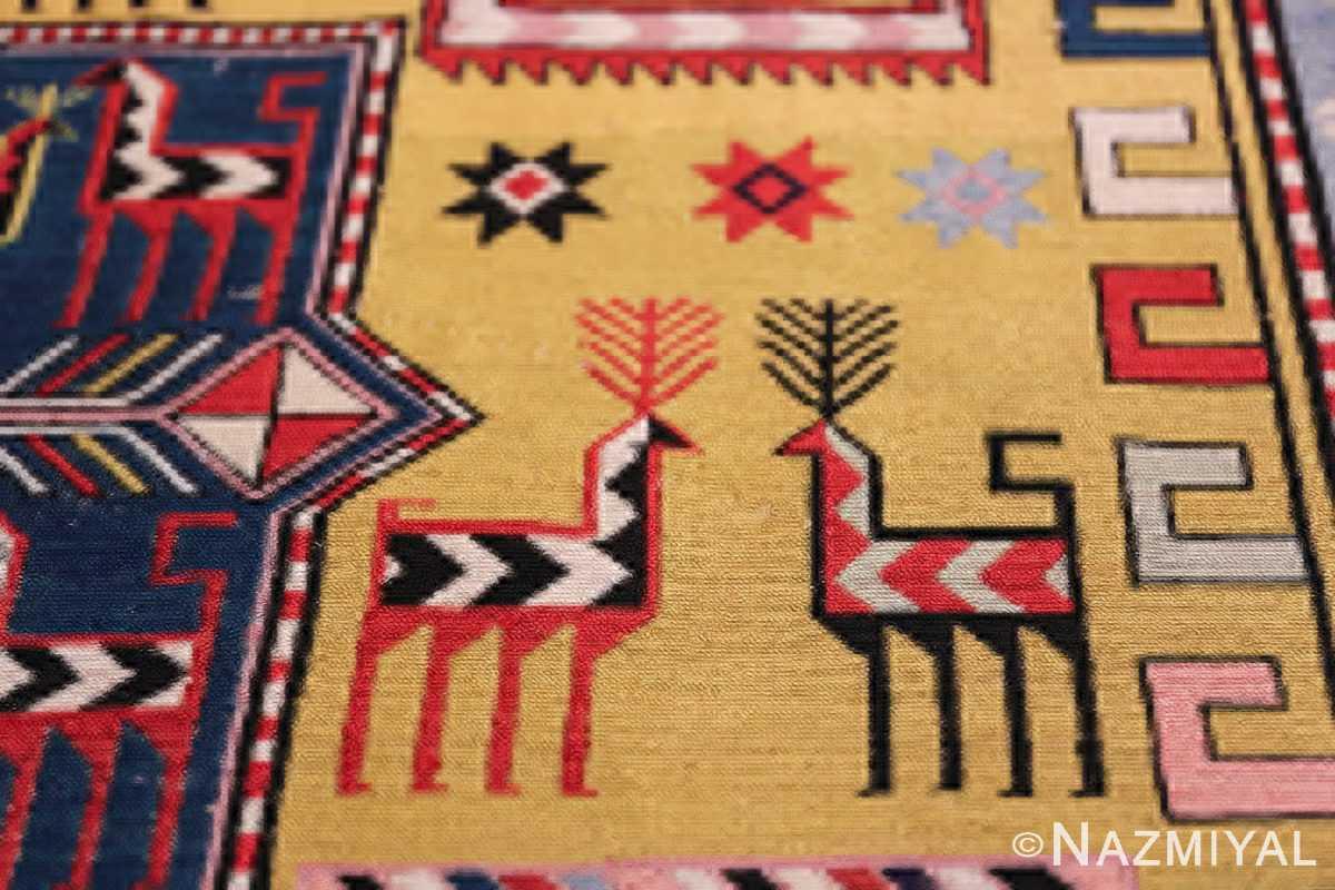 vintage silk soumak caucasian 49609 double Nazmiyal