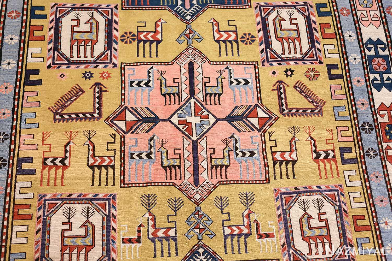 vintage silk soumak caucasian 49609 pink Nazmiyal