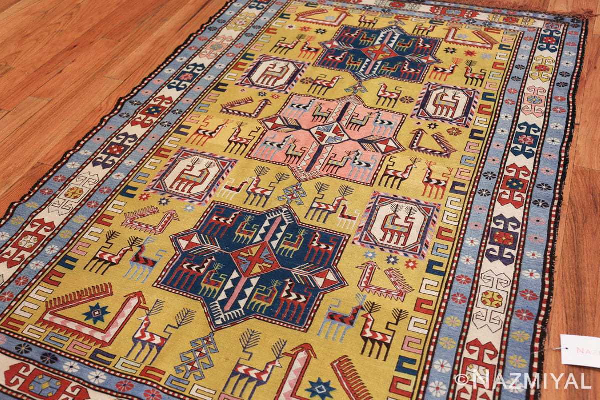 vintage silk soumak caucasian 49609 side Nazmiyal