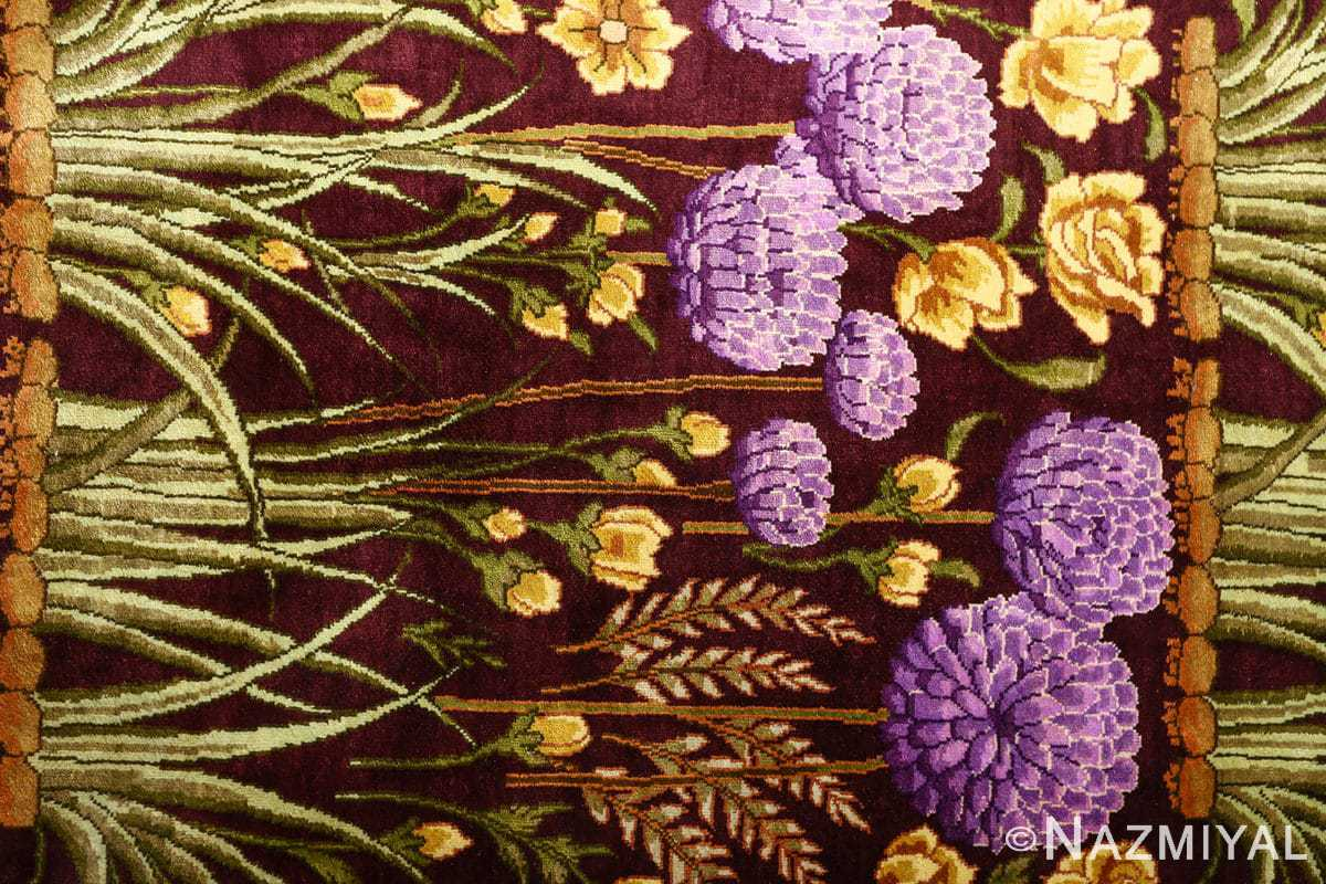 vintage silk tabriz persian rug 51179 grass Nazmiyal