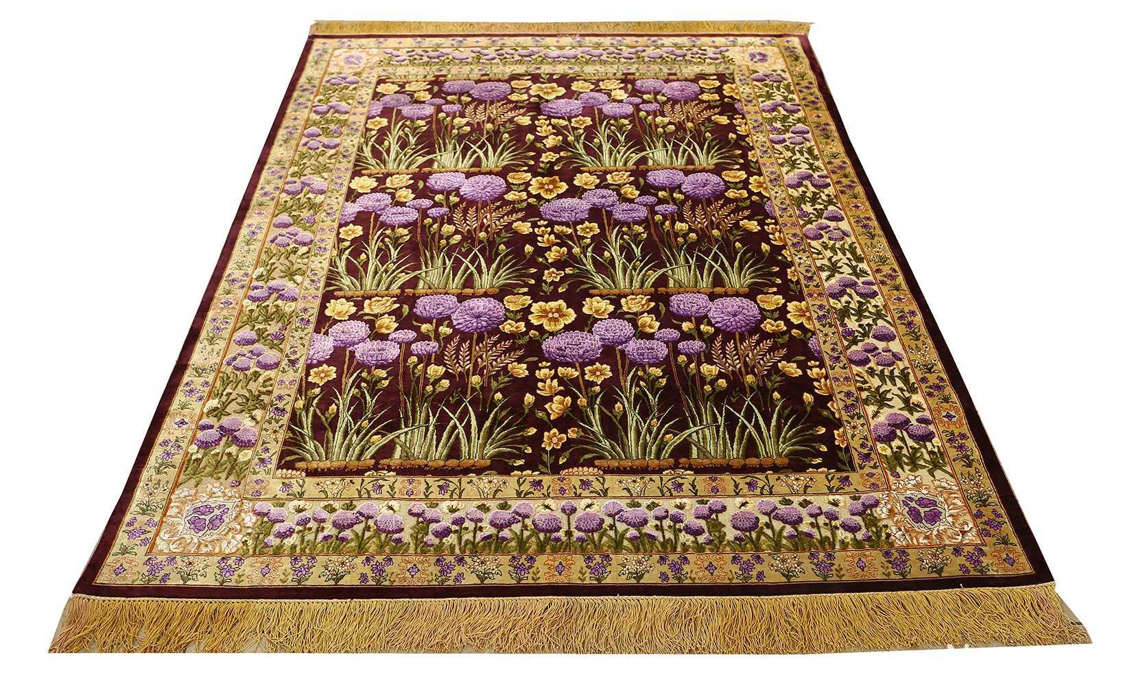 vintage silk tabriz persian rug 51179 whole Nazmiyal