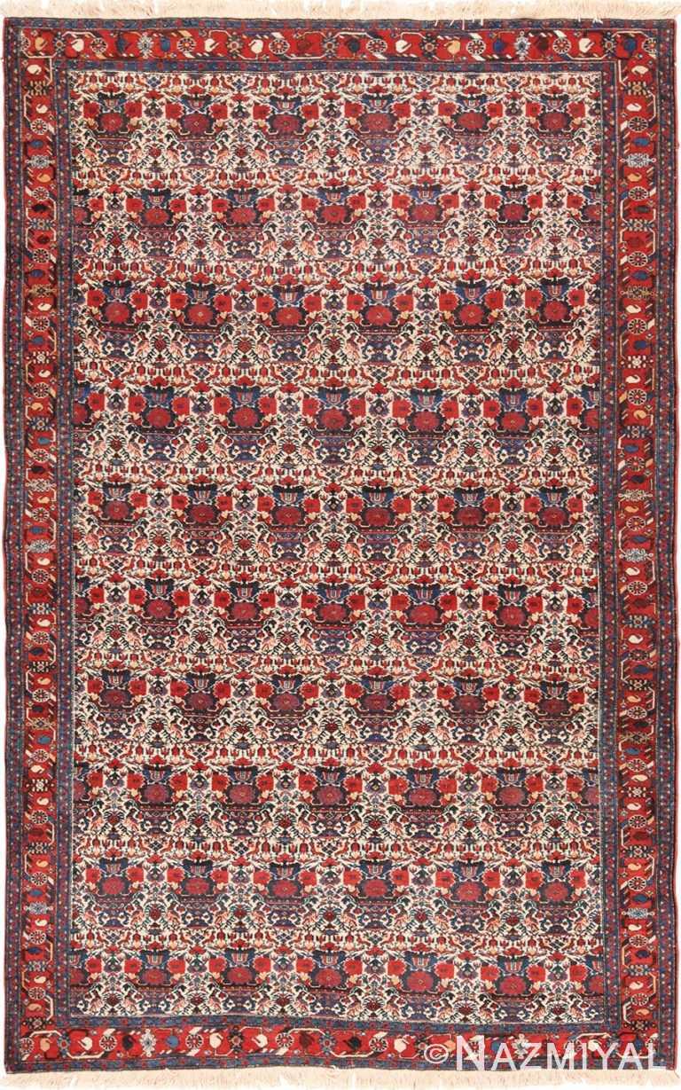 Small Ivory Vintage Persian Sarouk Farahan Rug 49645 by Nazmiyal