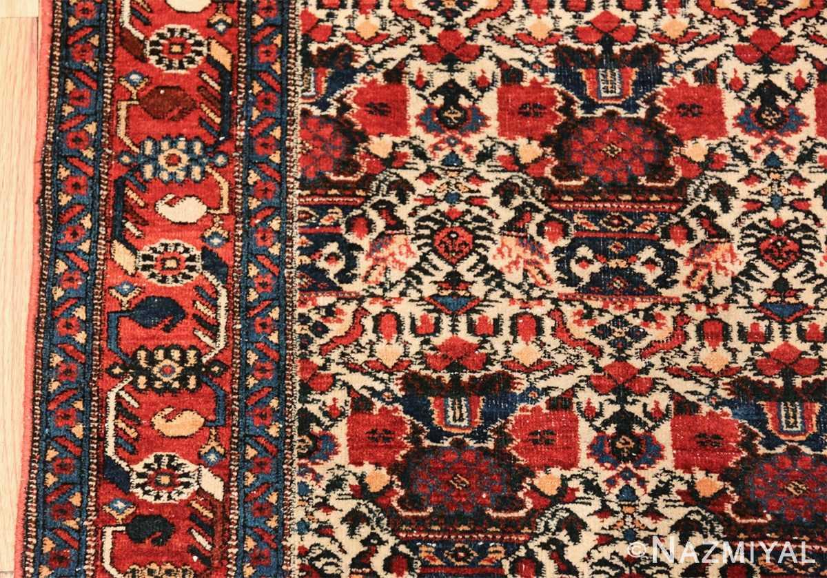 vintage small size farahan persian rug 49645 border Nazmiyal
