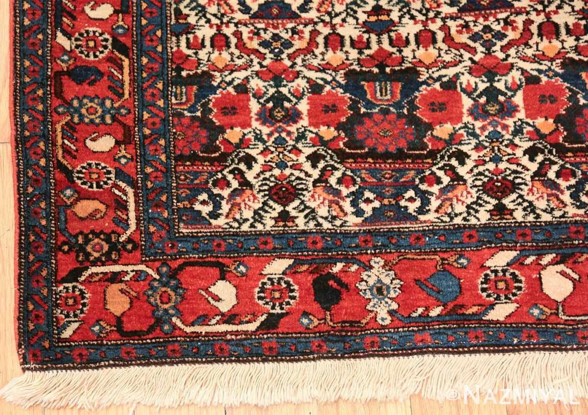 vintage small size farahan persian rug 49645 corner Nazmiyal