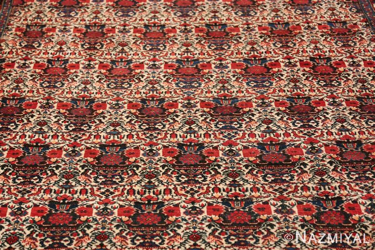 vintage small size farahan persian rug 49645 field Nazmiyal