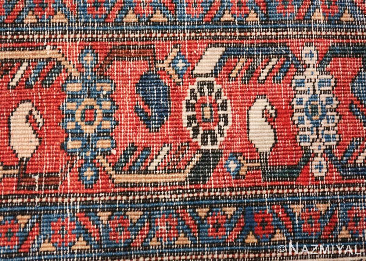 vintage small size farahan persian rug 49645 knots Nazmiyal