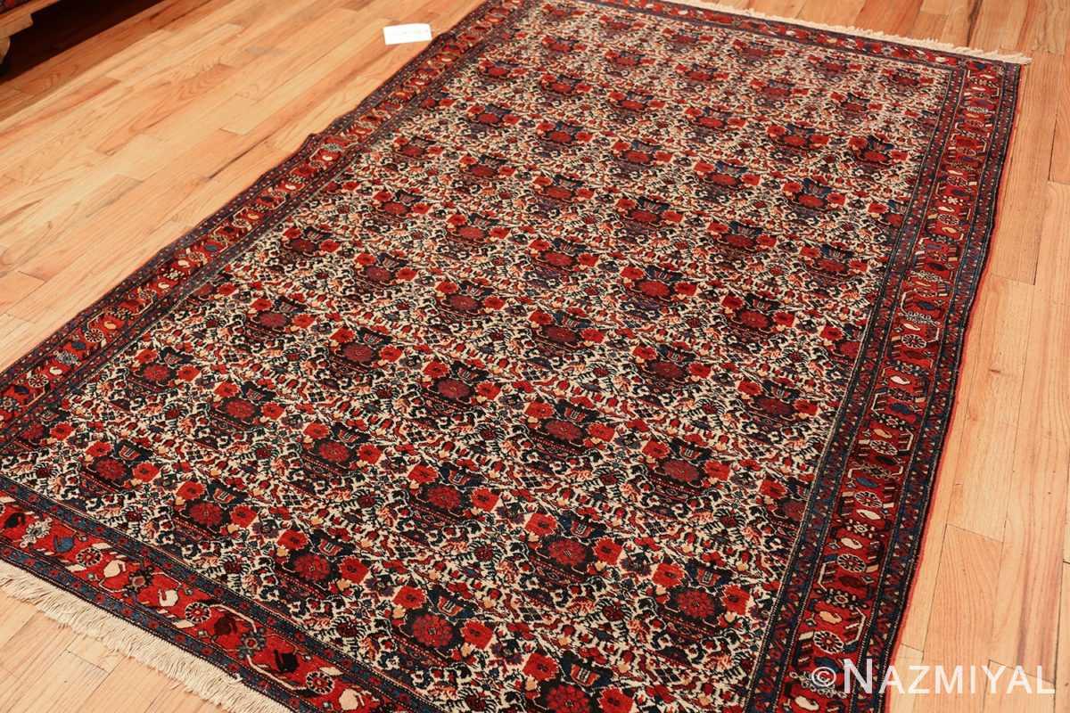 vintage small size farahan persian rug 49645 side Nazmiyal