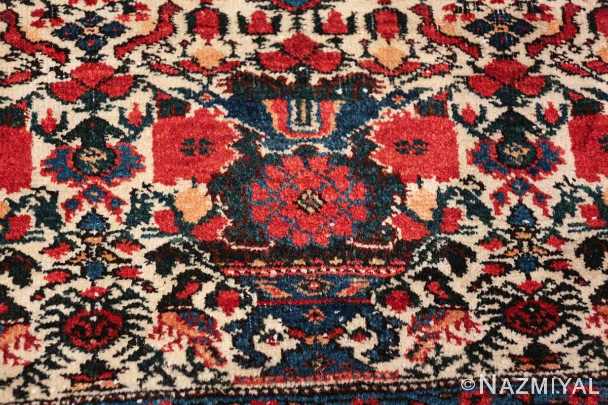 vintage small size farahan persian rug 49645 vase Nazmiyal