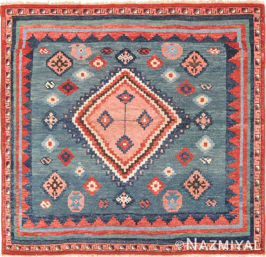 A Vintage Persian Shiraz Oriental Rug Size 5 1 H X 4 W Circa 1940 This Lovely Small Hand Knotted Wool Carpet Features Variety Of Stylized