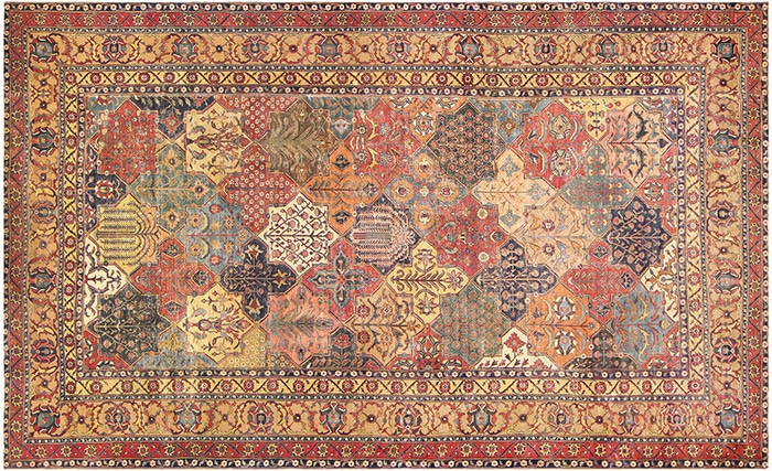 17th Century Persian Khorassan Rug by Nazmiyal