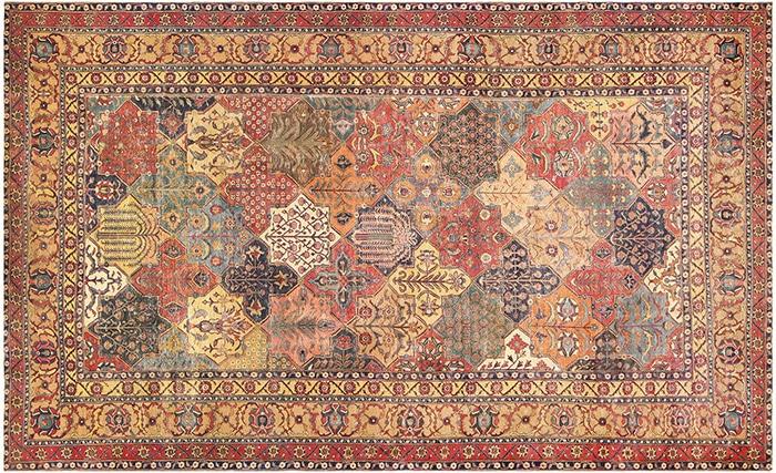 17th Century Persian Khorassan Rug by Nazmiyal