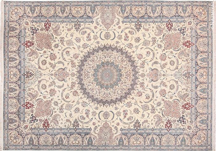 20th Century Silk and Wool Fine Persian Nain Rug #60029 by Nazmiyal