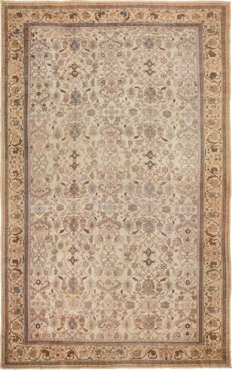 Antique Decorative Oversized Persian Sultanabad Rug 49675 by nazmiyal