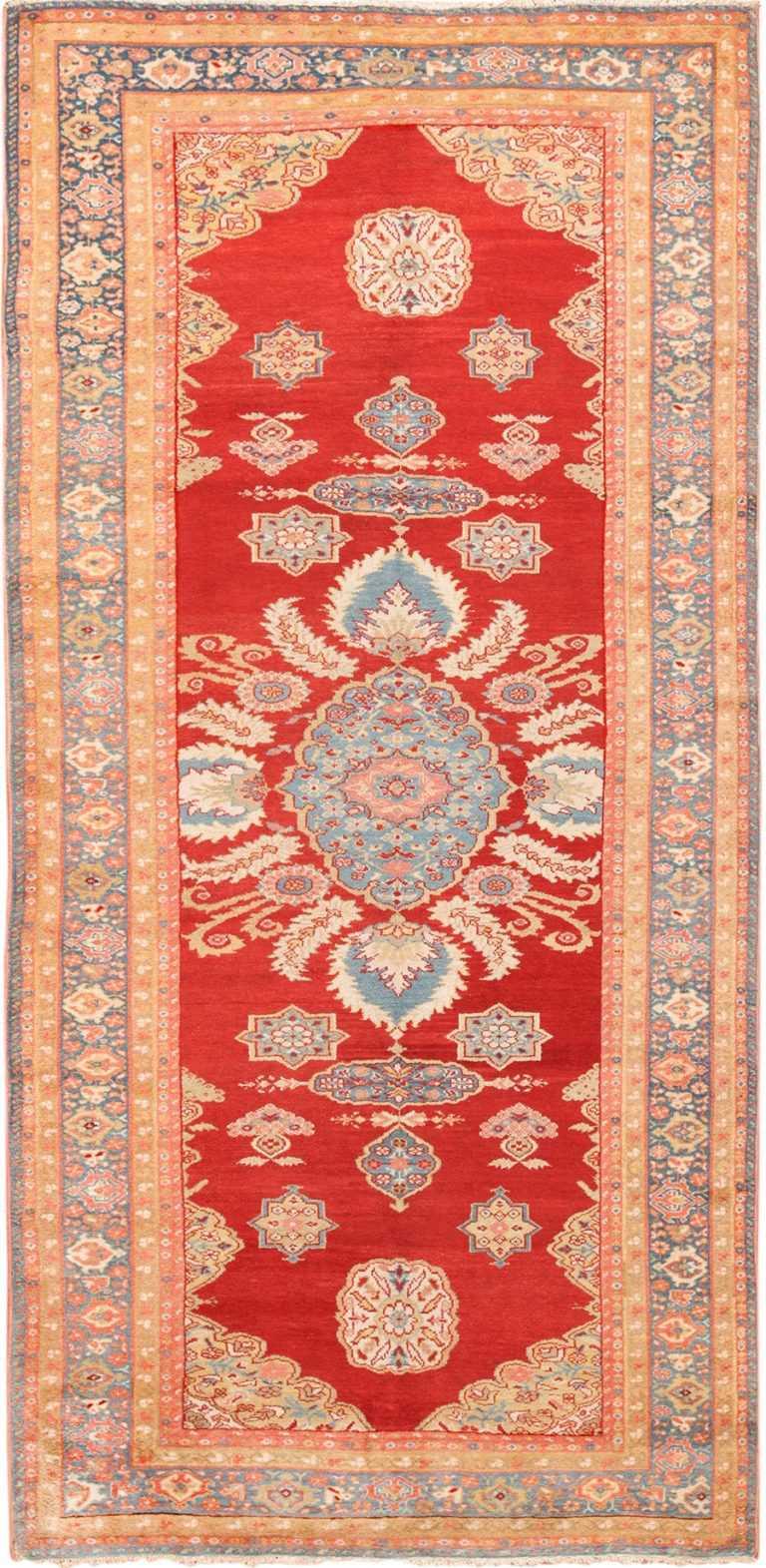 Long and Narrow Antique Persian Sultanabad Rug 49679 by Nazmiyal