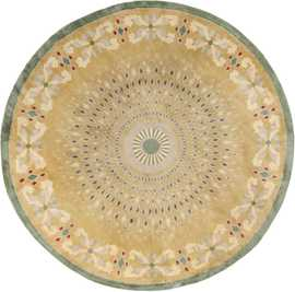 Antique Round French Art Deco Rug by Leleu 49693 Nazmiyal