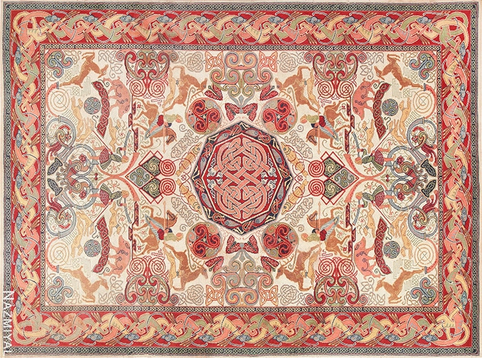 Celtic Rugs by George Bain by Nazmiyal