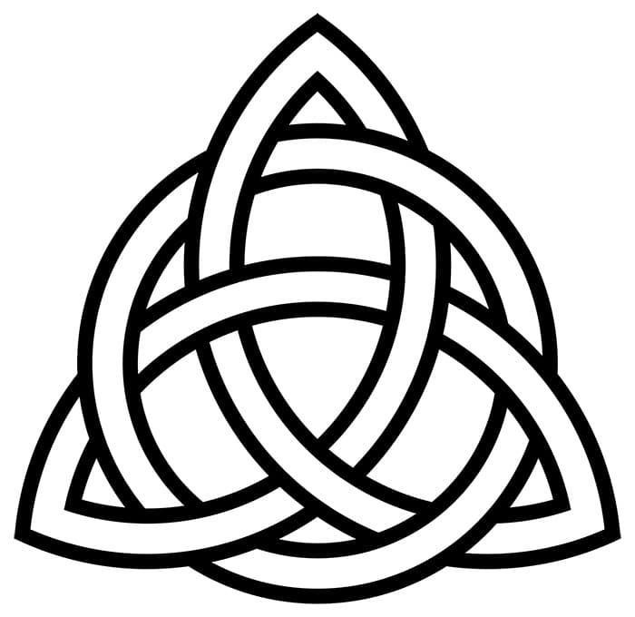 Interlaced Celtic Triquetra Symbol by Nazmiyal