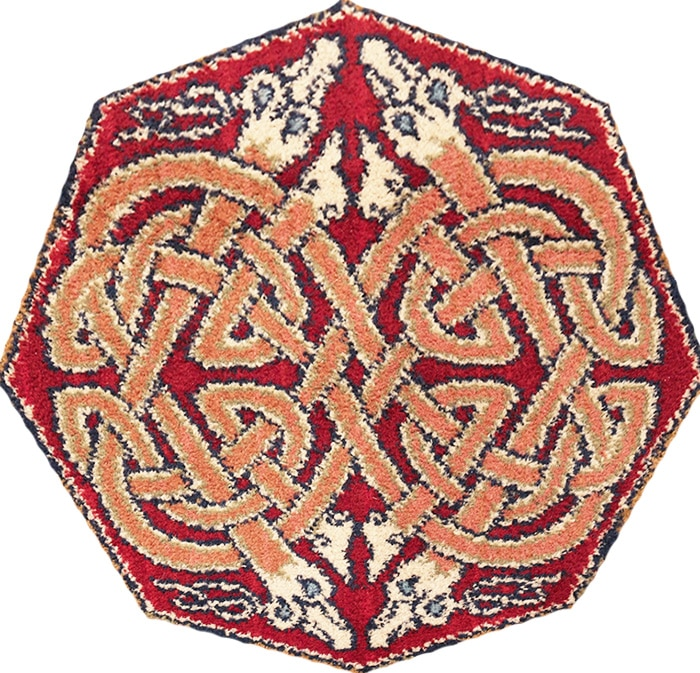 Central Rug Medallion With Celtic Knot Design by Nazmiyal