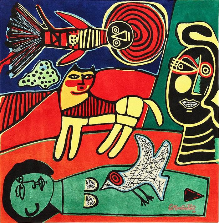 Modern art rug by artist Corneille #49544 Nazmiyal