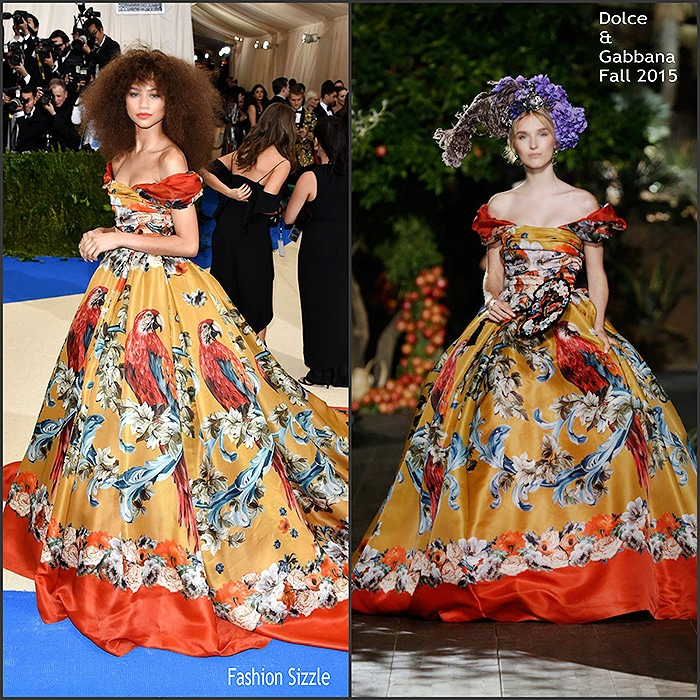French Carpet Inspired Dolce & Gabbana Dress by nazmiyal