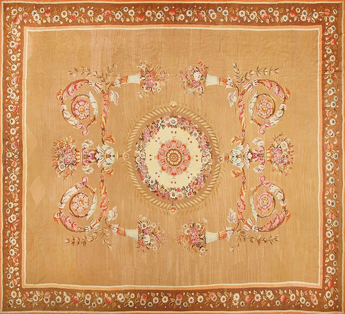 Antique French Aubusson Carpet by Nazmiyal