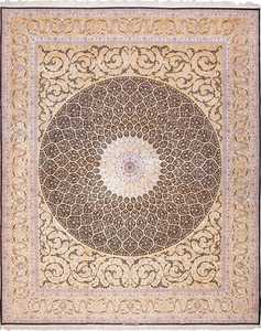 Modern Large Luxurious Silk and Wool Vintage Persian Isfahan Rug #60031 by Nazmiyal