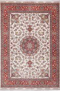 Large Vintage Silk and Wool Persian Tabriz Rug 60023 by Nazmiyal