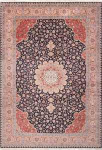Vintage Large Wool and Silk Persian Tabriz Rug 60044 by Nazmiyal