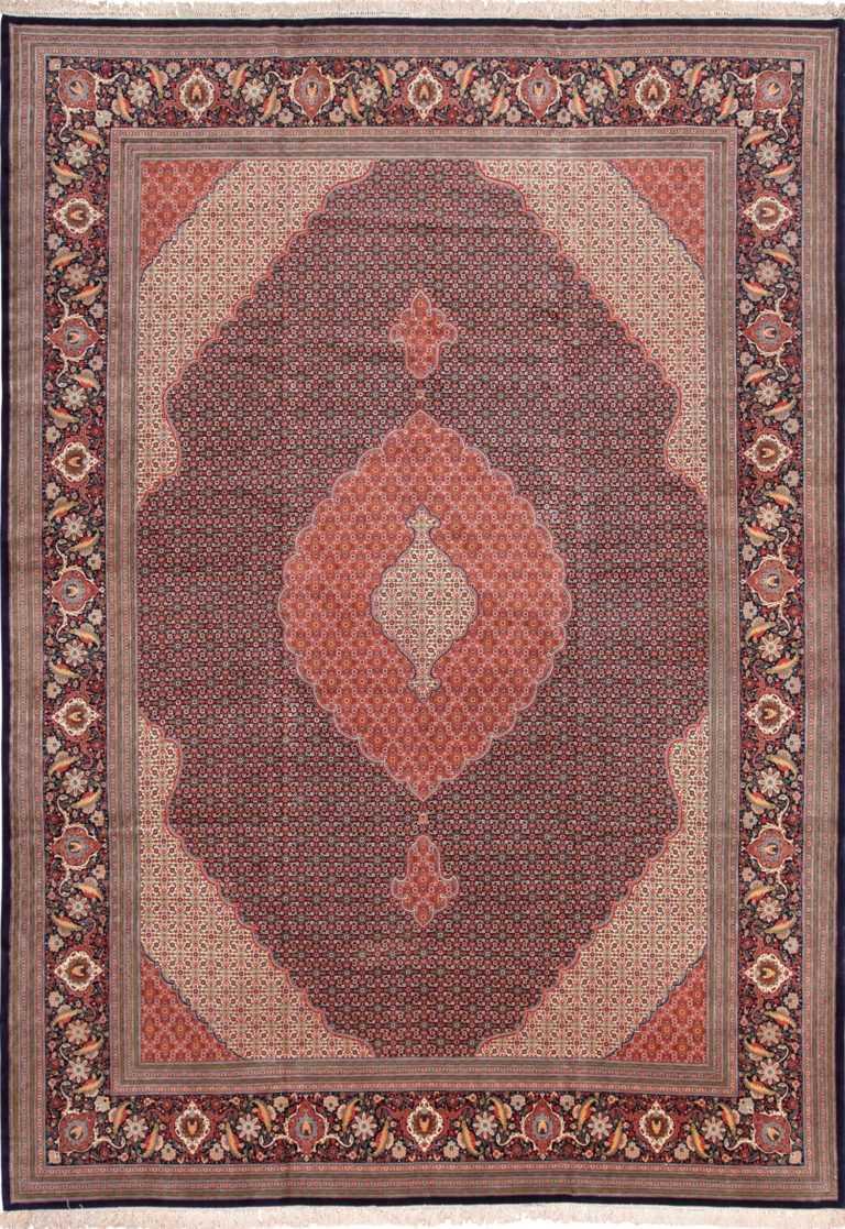 Large Vintage Herati Design Persian Tabriz Rug 60028 by Nazmiyal