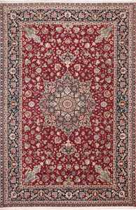 Fine Red Color Large Vintage Persian Tabriz Rug 60046 by Nazmiyal