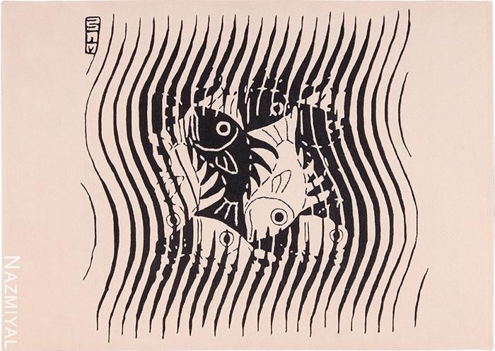 modern art rug by artist Maurits Escher #49662 Nazmiyal