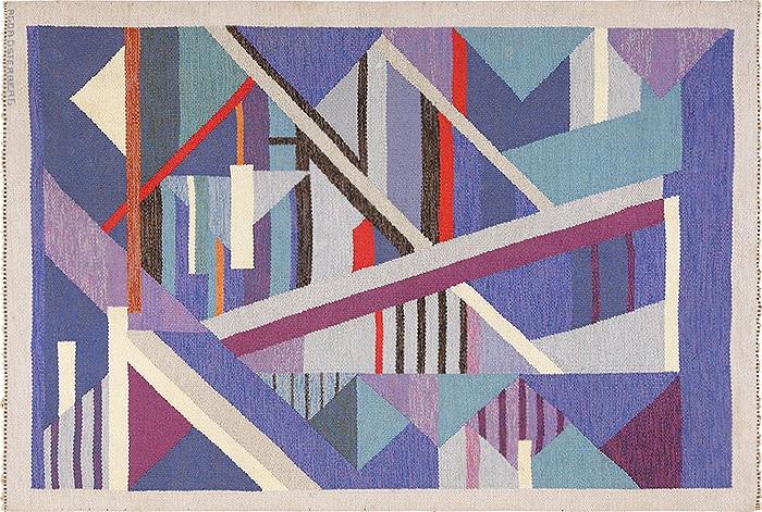 Modern Art Rug By Artist Adga Osterberg - Nazmiyal