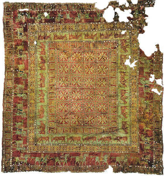 Image Of The Pile Pazyryk Rug - The Oldest Rug In The World by Nazmiyal