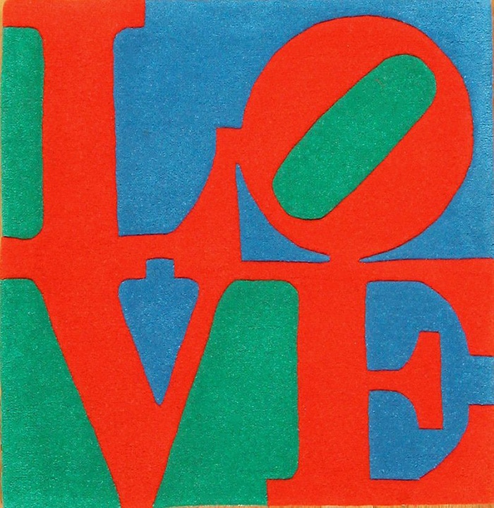 modern art Love rug by artist Robert Indiana #49470 by Nazmiyal