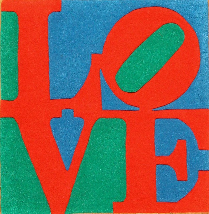 Robert Indiana Love Pop Art Rug 49470 by Namziyal